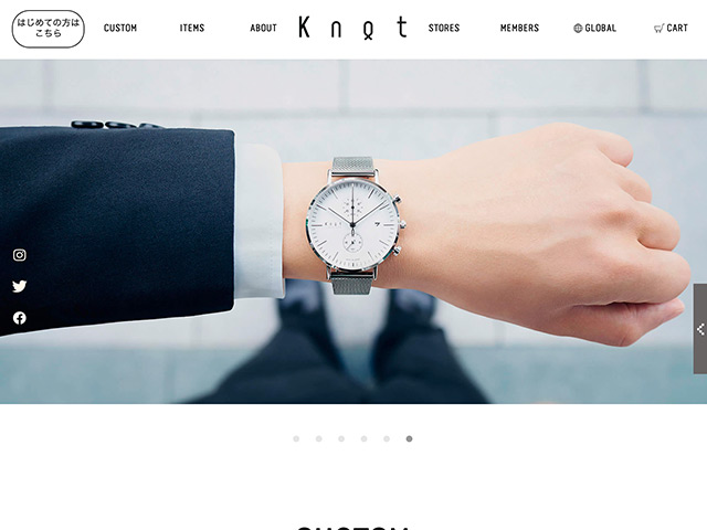 Maker's Watch KnotオフィシャルWebサイトサムネール